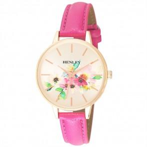 Henley Ladies Fashion Floral Print Watch
