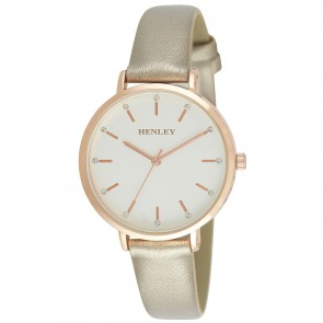 Women's Metallic Strap Watch
