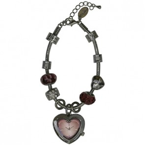 Henley Ladies Fashion Faceted Heart Bracelet Watch