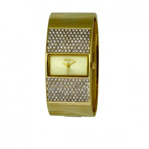 Henley Ladies Fashion Large Diamante Crystal Bangle Watch
