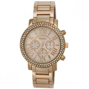 Women's Double Diamante Bezel Bracelet Watch