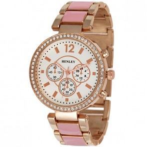 Women's Enamel Link Watch