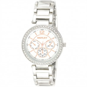 Ladies Diamante Bezel Multi Dial Bracelet Watch