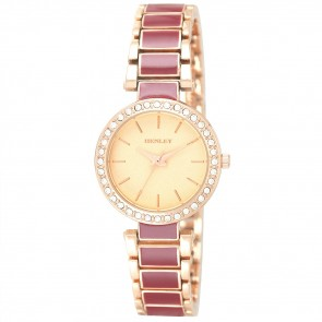 Henley Ladies Minimal Enamel Fashion Watch