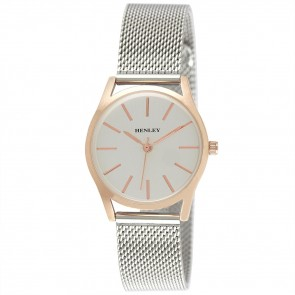 Henley Ladies Two-Tone Mesh Bracelet Watch