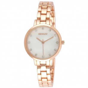 Women's Sleek MOP Bracelet Watch