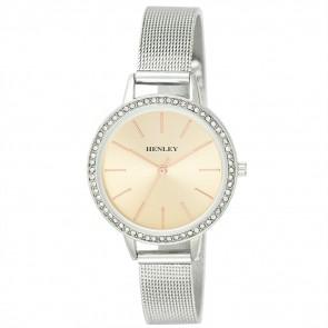 Women's Diamante Mesh Bracelet Watch