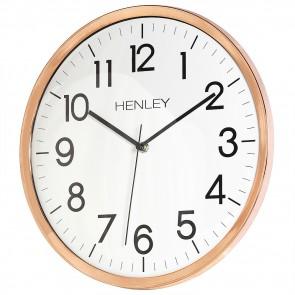 HENLEY 33cm Kitchen Wall Clock - Copper