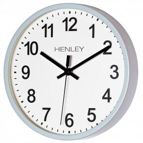 HENLEY 25cm Kitchen Wall Clock - Powder Blue