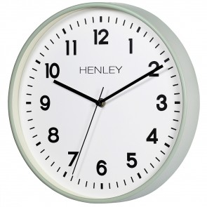 HENLEY 30cm Kitchen Wall Clock - Light Sage