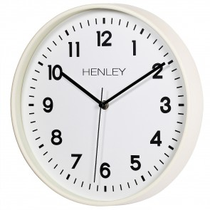 30cm Kitchen Wall Clock - Ivory