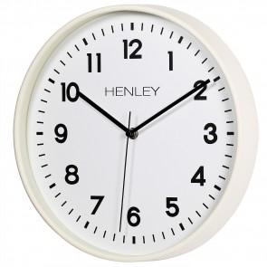 HENLEY 30cm Kitchen Wall Clock - Ivory