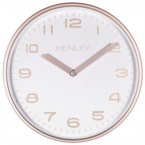 Modern Metal Pastel Wall Clock - Buff Bronze