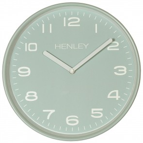 Modern Metal Pastel Wall Clock - Duck Egg Blue