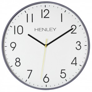 Large Contemporary Print Wall Clock - Grey