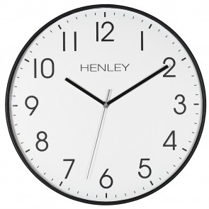 Large Contemporary Print Wall Clock - Black