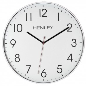 Large Contemporary Print Wall Clock - White