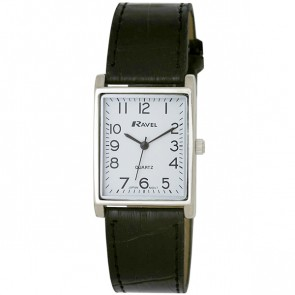 Men's Classic Rectangular Strap Watch