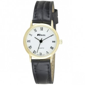 Women's Classic Roman Numeral Dial Strap Watch