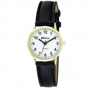 Women's Classic Arabic Dial Strap Watch
