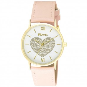 Ravel Ladies Classic Heart Watch
