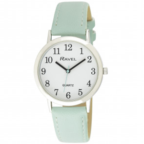 Women's Classic Easy Read Strap Watch - Sage Green