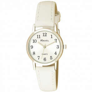 Women's Classic Easy Read Pastel Strap Watch - White