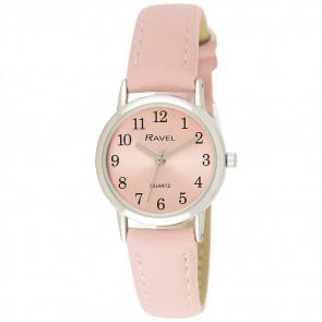 Women's Classic Easy Read Pastel Strap Watch - Pink