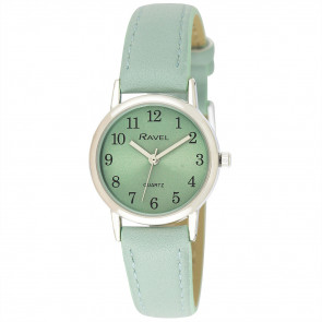 Women's Classic Easy Read Pastel Strap Watch - Sage Green