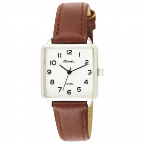 Women's Classic Rectangular Strap Watch - Tan