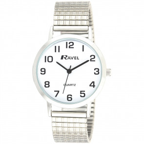 Men's Classic Easy Read Expander Bracelet Watch