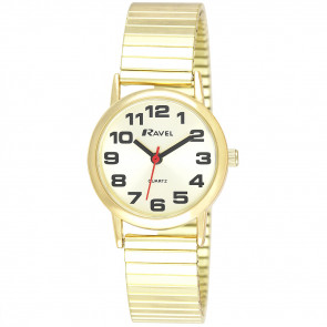 Women's Classic Bold Easy Read Expander Bracelet Watch
