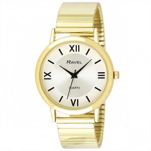 Men's Traditional Roman Numeral Bracelet Watch - Gold