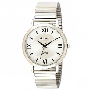 Men's Traditional Roman Numeral Bracelet Watch - Silver