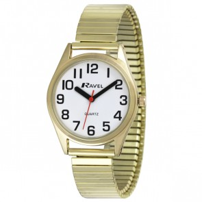 Women's Classic Super Bold Easy Read Expander Bracelet Watch