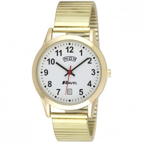 Ravel Mens Day Date Expander Watch