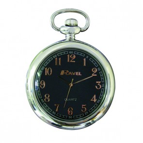 Ravel Open Faced Pocket Watch