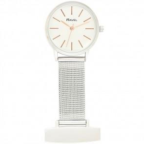 Minimal Mesh Nurses Watch - Silver / Rose Gold