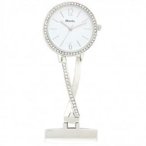 Kriss Cross Nurses Watch - Silver