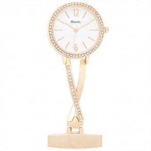 Kriss Cross Nurses Watch - Rose Gold