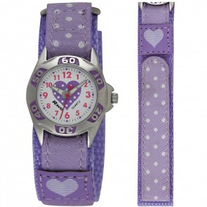 Girl's Velcro Polka Dot Watch