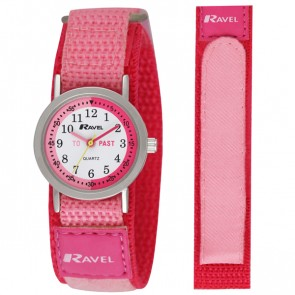 Ravel Girls Velcro Time-Teacher Watch