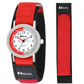 Ravel Boys Velcro Time-Teacher Watch