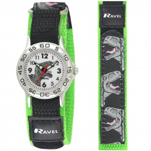 Ravel Boys Velcro Dinosaur Watch