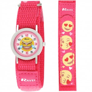 Ravel Unisex Velcro Emoji Watch