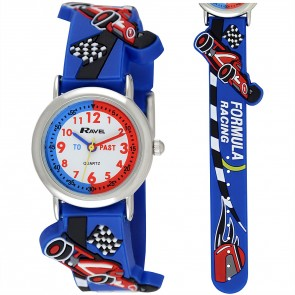 Boy's Cartoon Time Teacher Watch - Racing Car