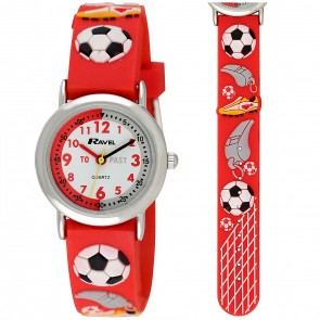 Boy's Cartoon Time Teacher Watch - Football