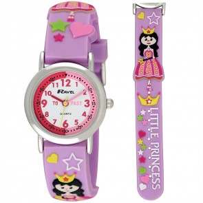 Girl's Cartoon Time Teacher Watch - Princess