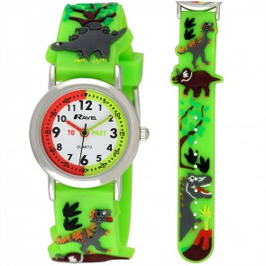 Boy's Cartoon Time Teacher Watch - Dinosaur