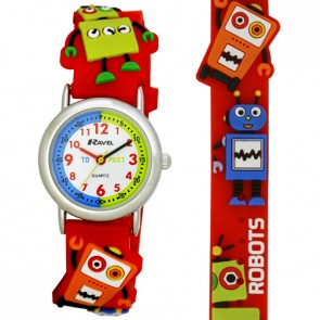 Boy's Cartoon Time Teacher Watch - Robots